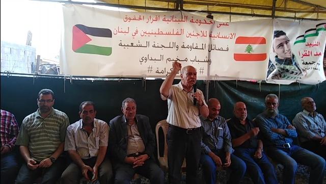 فيصل  : تحركاتكم المتواصلة تؤكد على الروح الثورية للشعب الفلسطيني