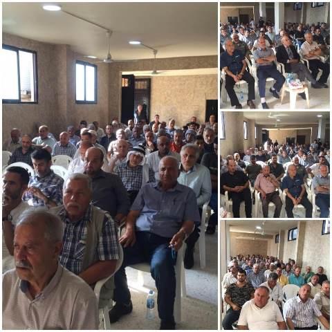 مهرجان تأبيني للمناضل ابراهيم الجسيم في تجمع الواسطة جنوبي لبنان