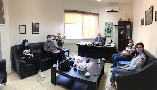 صيدا : جامعة الجنان تستقبل وفد اتحاد الشباب الدیمقراطي الفلسطیني(أشد)