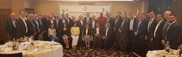 الغرفه الفلسطينية الأميركية تبحث مع العسيلي التحديات الاقتصادية