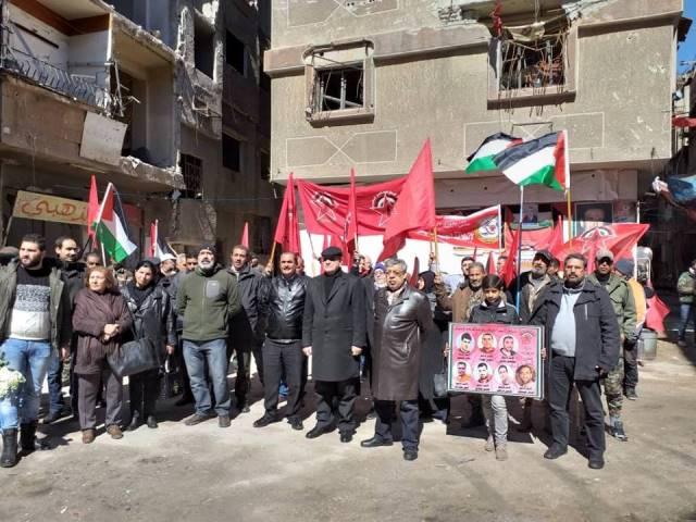«الديمقراطية» تختتم احتفالاتها بالعيد الخمسين للانطلاقة في مخيمي اليرموك وجرمانا