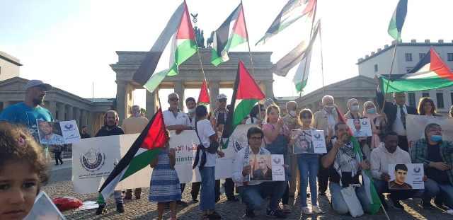 وقفة تضامنية حاشدة مع الاسرى الفلسطينيين في برلين