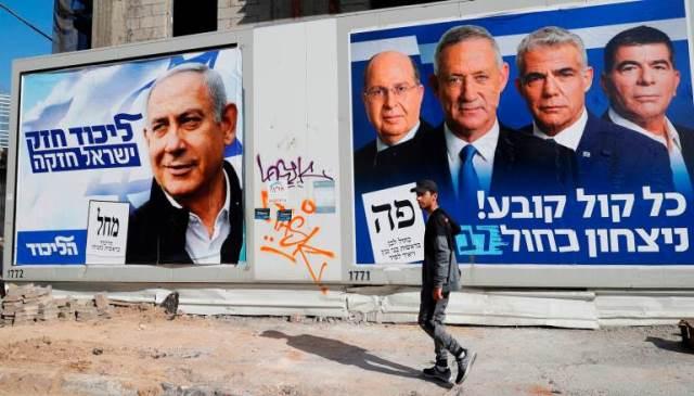 الانتخابات الإسرائيلية: منافسة حامية بين الليكود ومنافسه أزرق/ أبيض