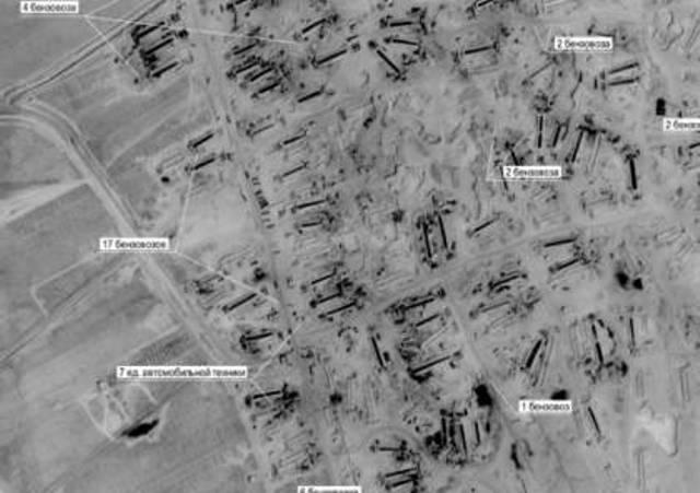موسكو تنشر صورا لتهريب النفط السوري بحراسة أميركية