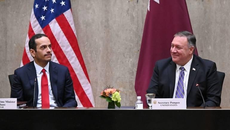 خارجيتا الولايات المتحدة وقطر تطرحان صفقة ترامب أساساً لحل الصراع الفلسطيني الإسرائيلي