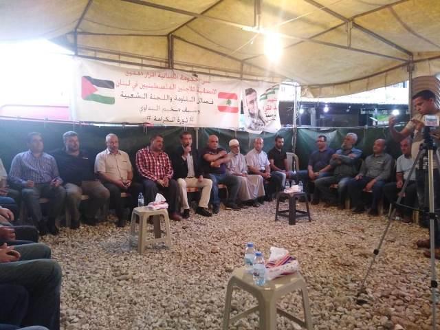 خيمة الكرامة تستقبل المتضامنون في البداوي