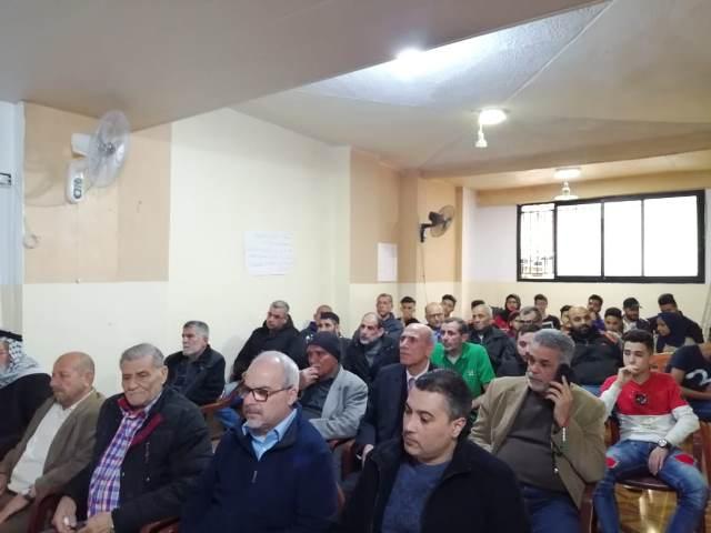 ندوة سياسية حول الاسرى بدعوة من أشد في مخيم برج البراجنة