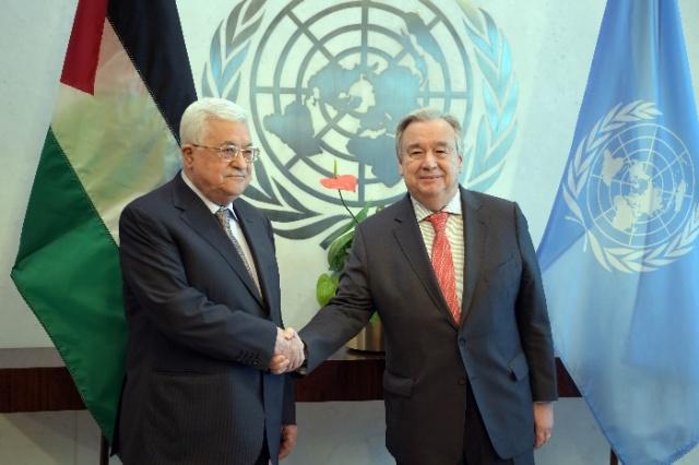 منصور : عقد اجتماع «مفيد للغاية» بين أبو مازن وغوتيريش