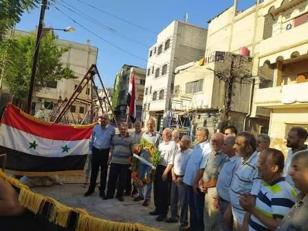 «الديمقراطية» في المخيمات والتجمعات الفلسطينية في سوريا تزور مقابر الشهداء
