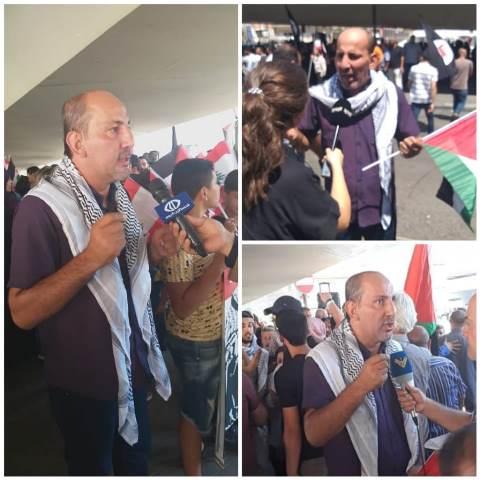 أشد يدعو لاستمرار التحركات ويطالب لبنان بالاستجابة لحقوق اللاجئين الفلسطينيين