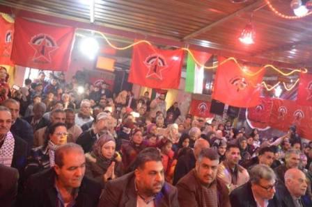 سوريا: مهرجان جماهيري لـ«الديمقراطية» في مخيم الرمل باللاذقية، بالعيد الخمسين لانطلاقتها
