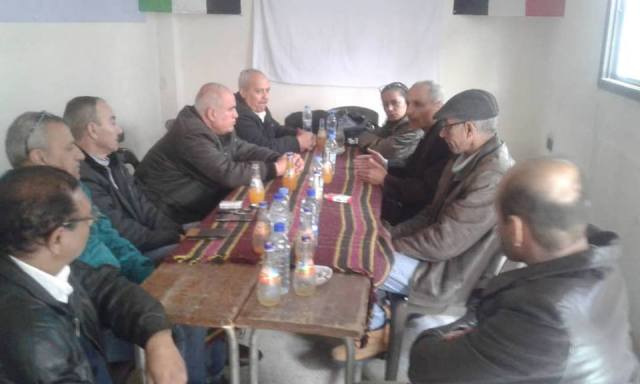 «الديمقراطية» تلتقي اللجنة الشعبية الفلسطينية لمخيم اليرموك