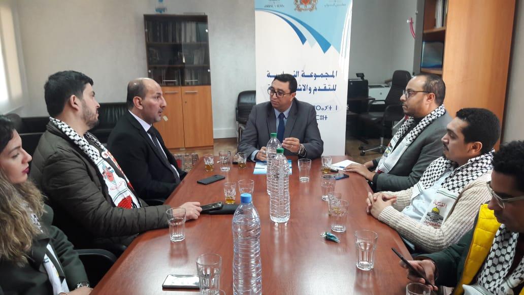 كتلة التقدم والاشتراكية تستقبل الجبهة الديمقراطية في البرلمان المغربي