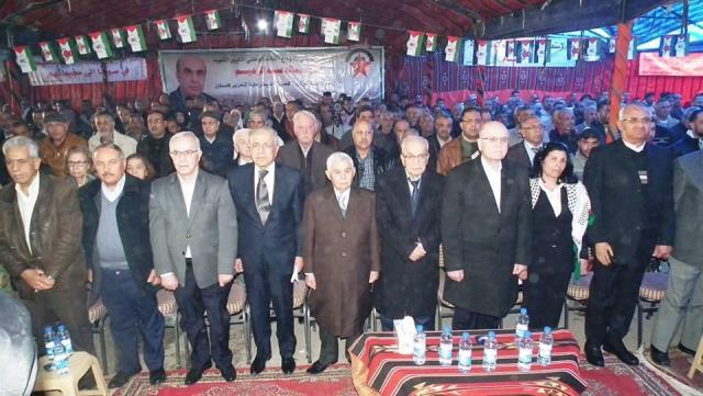 مهرجان جماهيري بدمشق تأبيناً للقائد الشهيد اللواء خالد عبد الرحيم