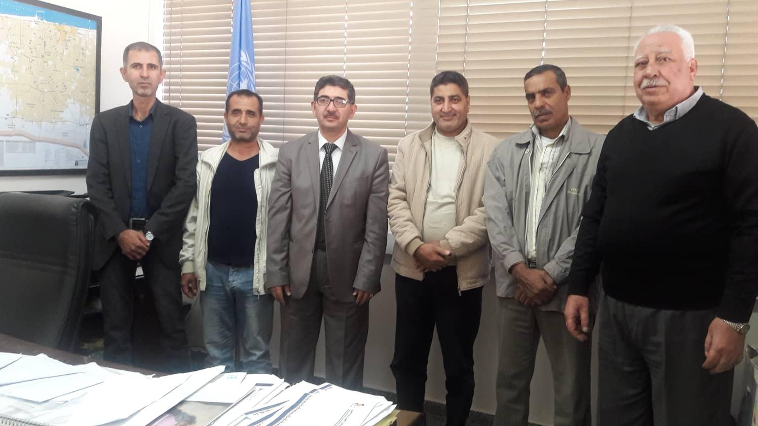 دائرة شؤن اللاجئين بـ«الديمقراطية» تلتقي رئيس مكتب مدير عمليات الوكالة في منطقة غزة