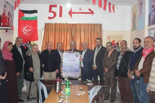 الجبهة الديمقراطية في شمال غزة تزور الجبهة الشعبية لتهنئتها بالانطلاقة الـ 51 (صور)