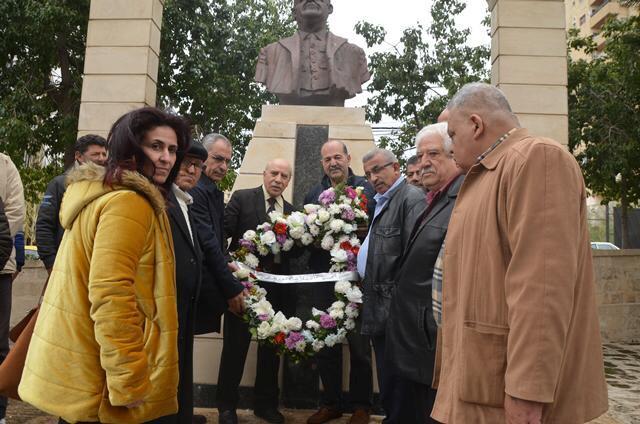 أكاليل ورد في الذكرى 44 لاستشهاد معروف سعد والـ 50 لانطلاقة الجبهة الديمقراطية