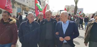 مسيرة لـ«الديمقراطية» على شرف ذكرى انطلاقتها..أبو ليلى: إرادة شعبنا ستنتصر على محاولات تصفية قضيتنا