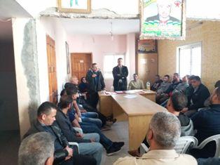 الديمقراطية تختتم مؤتمرات فروعها غرب خان يونس وتنتخب هيئة قيادة جديدة