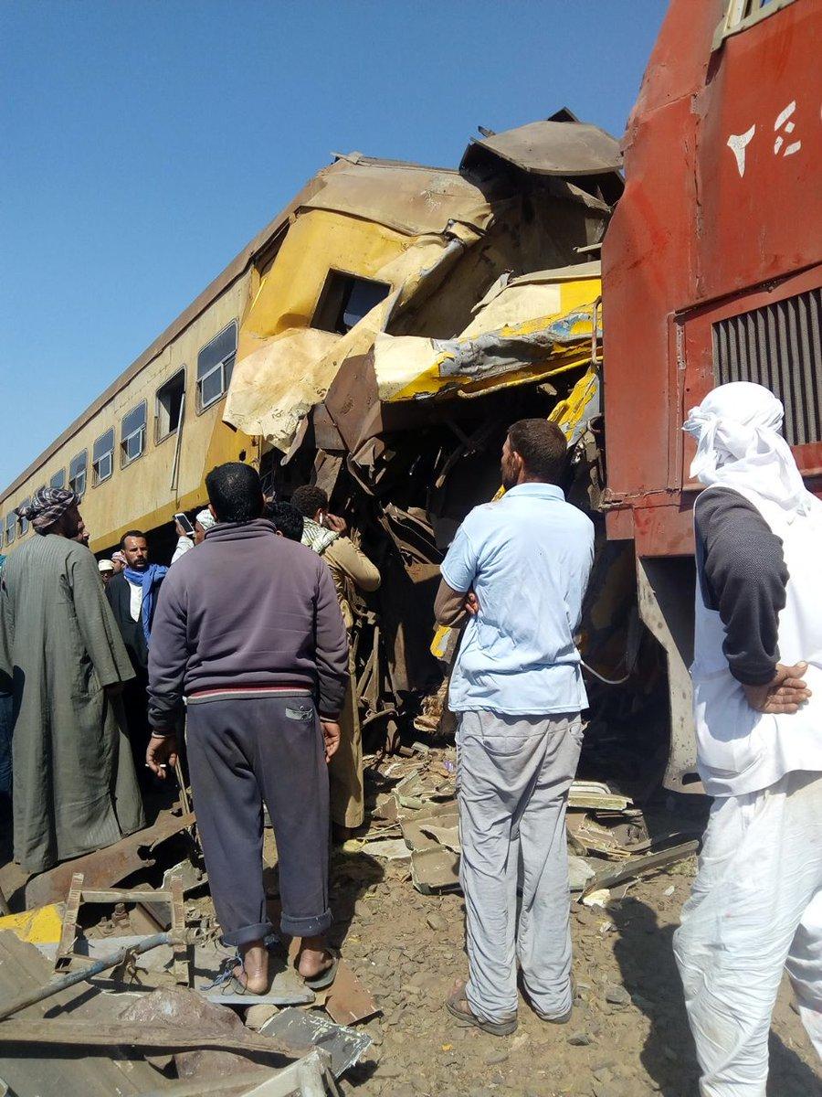 قتلى في تصادم قطارين في البحيرة بمصر