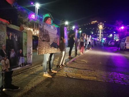 «غزّة حتى العودة.. لن يهدأ الشّارع».. تظاهرة فنية في حيفا