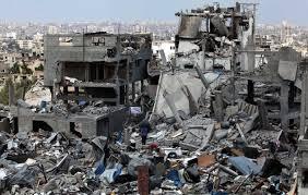 غزة : وقفة احتجاجية لأصحاب البيوت المدمرة للمطالبة بإنهاء معاناتهم