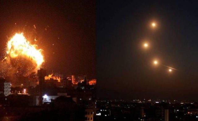 اصابات في غارات لطائرات الاحتلال على قطاع غزة .. الفصائل تبلغ القاهرة التزامها بالتهدئة