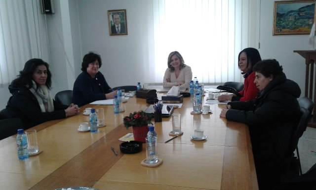 « ندى» تلتقي بالسيدة كلودين عون روكز رئيسة الهيئة الوطنية لشؤون المرأة اللبنانية
