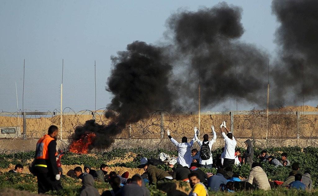 إصابات بقمع الاحتلال فعاليات جمعة « لا لضم الضفة» على حدود القطاع