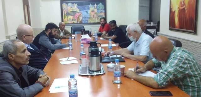 سليمان يلتقي وفد الاتحاد العام للفنانين التشكيليين الفلسطينيين فرع سوريا