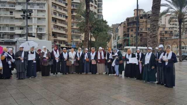 بيروت : وقفة نسائية ضمن حملة «كلنا مريم» نصرة للمرأة المقدسية