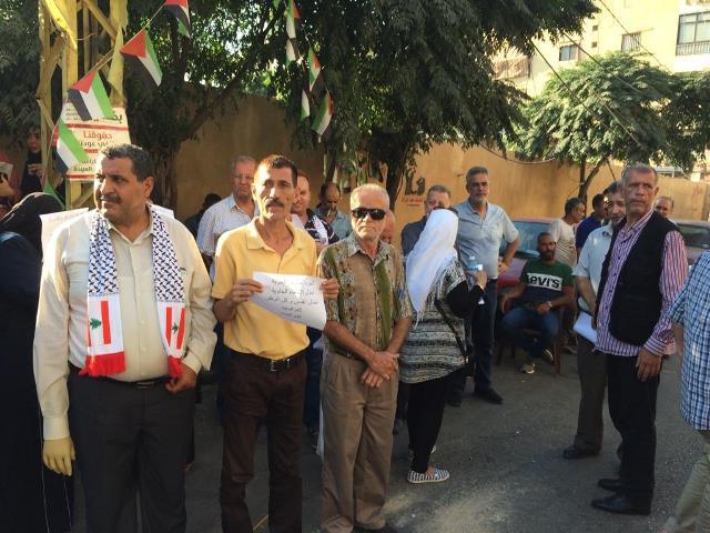 «الديمقراطية» تشارك باعتصام مخيم برج البراجنة