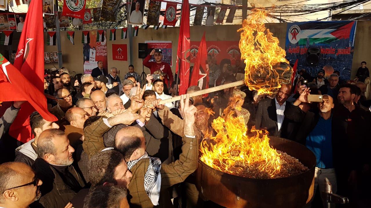 بحضور فصائلي وشعبي: «الديمقراطية» في مخيم عين الحلوة توقد شعلة انطلاقتها الخمسين