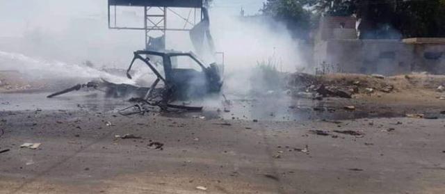 استشهاد وإصابة عدد من المدنيين بانفجار سيارة مفخخة في مدينة رأس العين بالحسكة