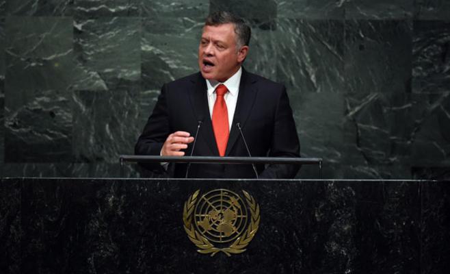 العاهل الأردني: الطريق الوحيد للسلام العادل إقامة دولة فلسطينية على حدود 67