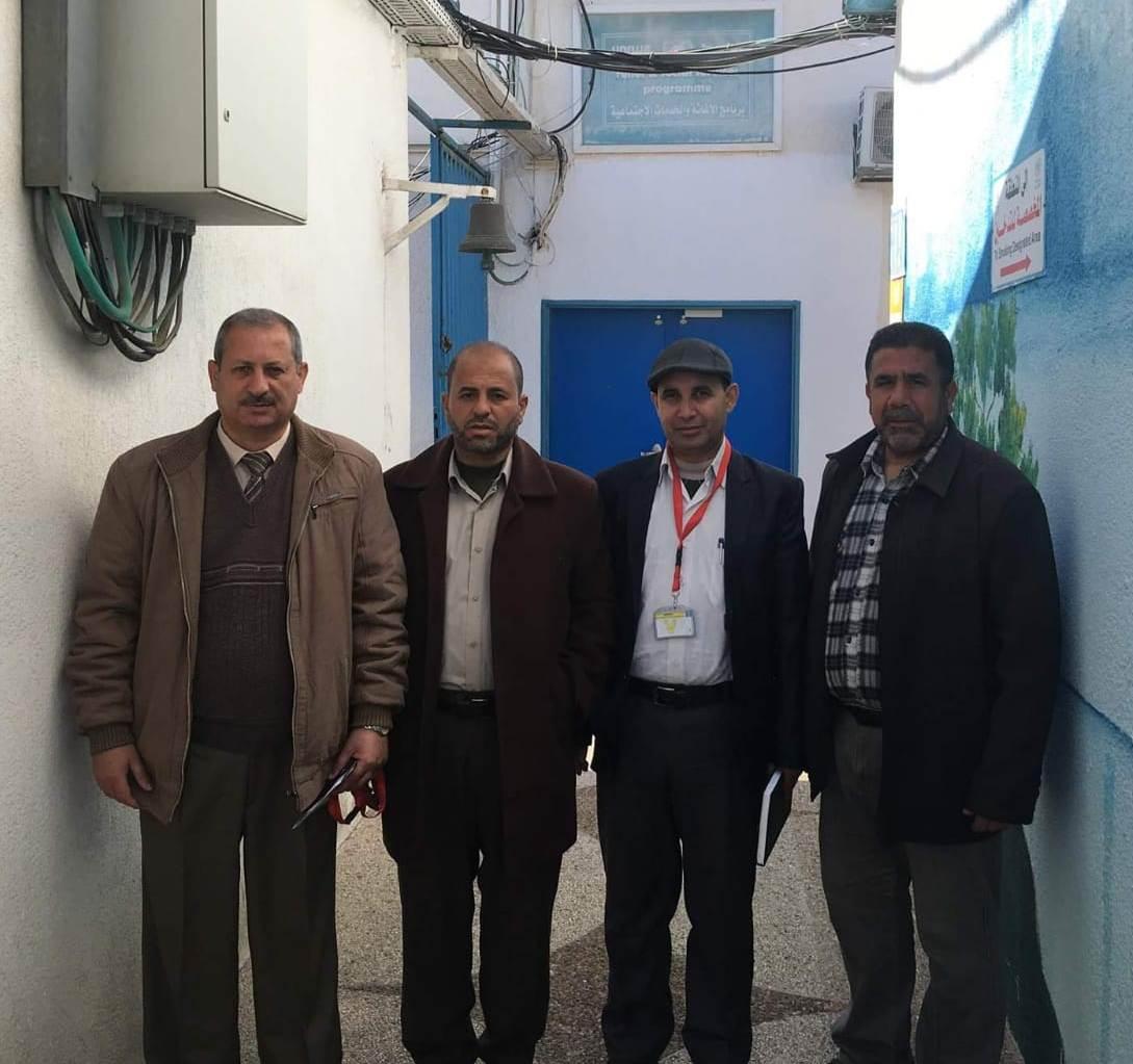 اللجنة المشتركة للاجئين تجتمع مع مدير عمليات «الأونروا» السيد ماتياس شمالي في قطاع غزة