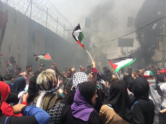 فلسطينيو سورية بلبنان يعتصمون للمطالبة باللجوء الإنساني