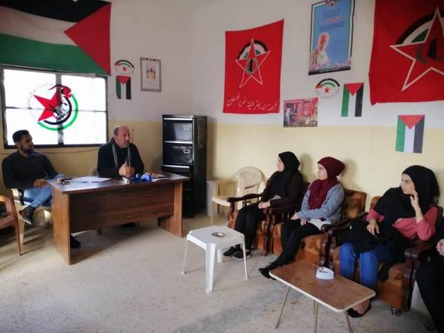 ورشة عمل شبابية لـ أشد في مخيم الرشيدية في لبنان
