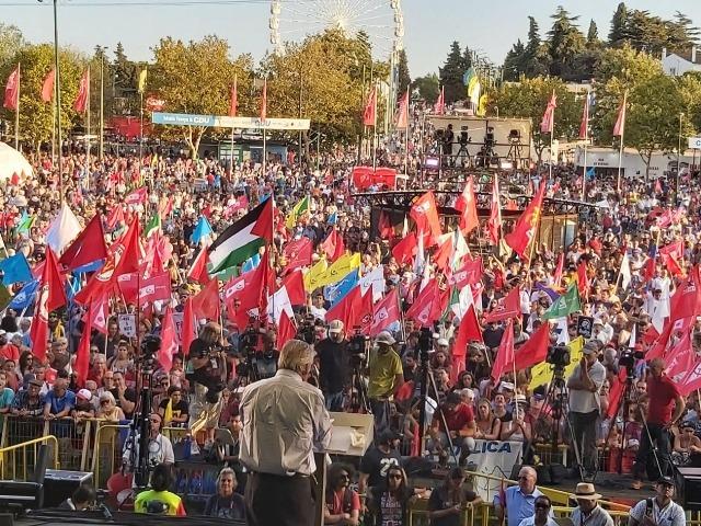 الديمقراطية تشارك بحفل للحزب الشيوعي البرتغالي الثالث والأربعين المعروف «بالأفانت»