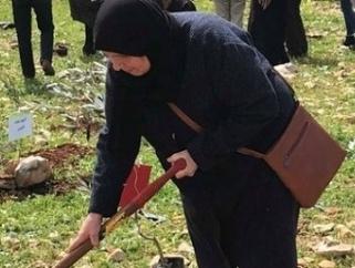 أمهات الأسرى والجرحى بنابلس  ينظمون فعالية «شجرة لكل شهيد»