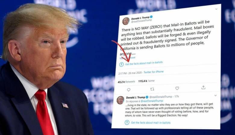 ترامب يهاجم تويتر بعد تحذير بشأن مصداقية تغريدة له