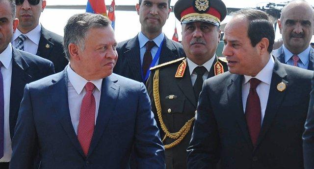 اجتماع ثنائي بين ملك الأردن والرئيس المصري في عمان