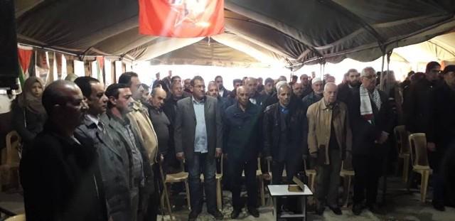 سوريا: مهرجان جماهيري في مخيم العائدين بحماة في الذكرى الـ50 لانطلاقة الجبهة الديمقراطية