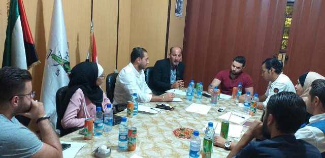 اجتماع مركزي بين أشد ومنظمة الشبيبة التقدمية وشبيبة حزب الشعب الفلسطيني في دمشق